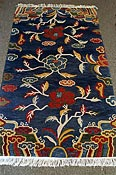nepali rug blue with tree