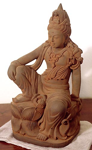quan yin sculpture royal ease position