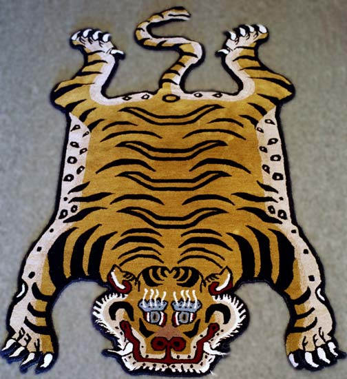 nepali rug  with tiger